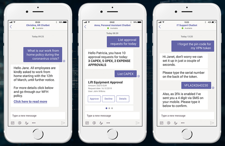 work from home solutions chatbots for hr management it