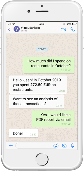 chatbot for banking usecase expenses