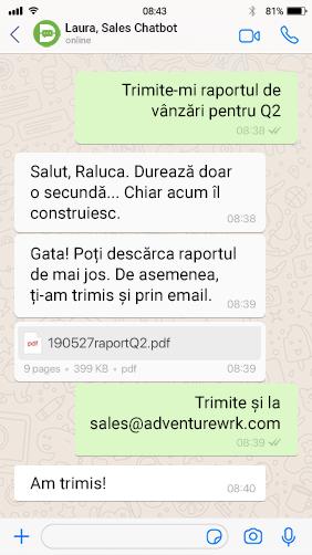 chatbot romana druid whatsapp