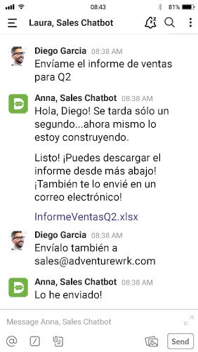 chatbots spanish druid slack