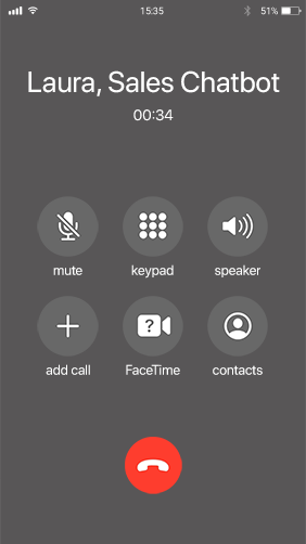 druid chatbots voice call