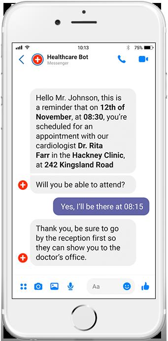 chatbots for healthcare reminder